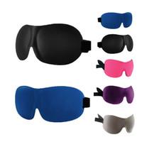 3D Sommeil Masque pour les yeux Blindfold sommeil voiture Voyage ombre Relax Couverture lumière Blinder Patch
