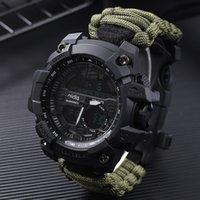 Choque Deporte relojes grandes cuarzo del dial digital Militar impermeable de los hombres de pulsera de hombres Relojes de los hombres del reloj Deportivos Reloj Hombre T7190617