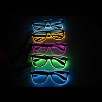 LED ضوء متوهجة النظارات EL سلك الحزب مضيئة نظارات شمسية لعيد الميلاد هالوين عيد الميلاد حزب بار مورد ديكور
