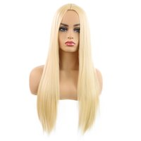 Hot selling fashion women long hair wig 24 inch six colors s...