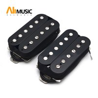 Alnico 5 Elektro Gitar Pikap Humbucker Çift Bobin Pikap Alnico V Gitar parçaları Siyah