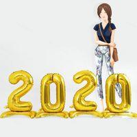 30 بوصة رقم الطراز الإبداعي مكانة احباط بالون عيد ميلاد الحزب الذكرى بالون أرقام منطاد الهواء زينة