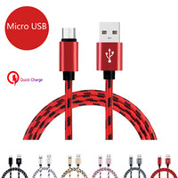 1M 2M 3M Micro USB Cable Nylon Braided Fast charging Data Sy...