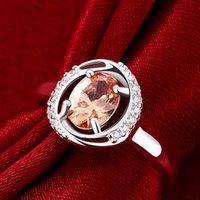 CZ cristais anéis de casamento noivado anel zircão femme