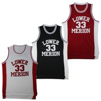 2e4ce8f2e19 Mens Vintage 33 Kobe Bryant Lower Merion High School Basketball Jerseys  Light Blue Cheap Kobe Bryant Stitched Shirts