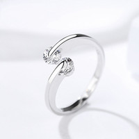 charm white rhodium women fashion jewelry cubic zorcnia S925...