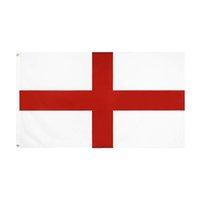 50 Stück direkt ab Werk Großhandel doppelt vernähte 3x5fts 90 * 150cm rotes Kreuz uk england Flagge für die Dekoration
