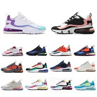 270 react mens running shoes Bleached Coral Dusk Purple Grey...