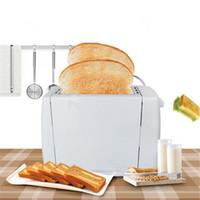 750W 2 fatias de torradeira Electrónica torradeira automática de pão torradeira Ferramenta de pequeno-almoço de areia Torradeiras de duas ranhuras máquina de fazer pão caseiro T200414