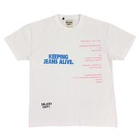 Mens Designer T Shirts High Street Gallery Dept Japan Limited Gewaschene Retro Short Sleeve Loose Women beiläufige Kleidung