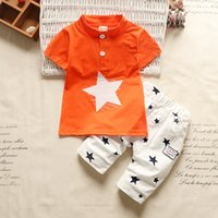 good quality 2019 new boys clothing sets summer kids clothes...