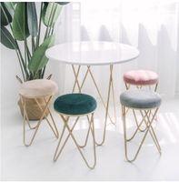 철 예술 화장품 벤치 드레싱 의자 북유럽 레스토랑 벤치 소파, 신발 의자에 티 테이블과 의자 인 크리 에이 티브 작은 의자