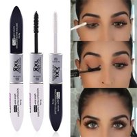 2 IN 1 4D Silk Fiber Lash Mascara Schwarz Mascara Waterproof Silk Fiber Volume Doppel Lengthening Curling Eye