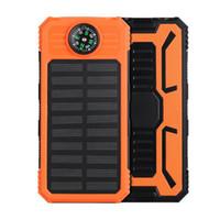 도매 -20000mAh 태양 전원 은행 충전기 외부 백업 배터리와 소매 상자 아이폰 아이 패드 삼성 휴대 전화
