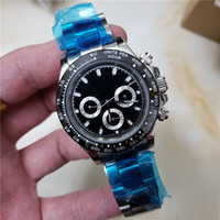 All small dials work brand mens watch luxury Ceramic Bezel S...