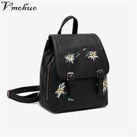 Дизайнерские цветочные девушки женщины Mochilas для женских кожаных рюкзаков школа Bagpack вышивка маленькие цветы рюкзаки сумки feminina qhjrp