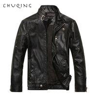 CHUQING 2019 homens de jaqueta de couro da motocicleta de couro dos homens nova moda mais jaqueta masculina de veludo