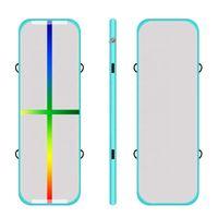 4M نفخ الهواء مفرش للبيع DWF المواد نفخ تراجع حصيرة أزرق اللون الهواء الطابق / المسار الجوي لصالة الألعاب الرياضية الرخيصة