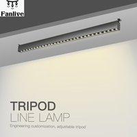 5pcs AC110-240V 10head 15head 32-40cm Iron Grey Surface Mounted Led lineare Linea lampada creativa Osram Galleria Exhibition Light Bar