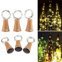 Solar Powered Luzes garrafa de vinho com cortiça, 10 LED Garrafa Luzes Cordas, Luzes solares para o Dia das Bruxas Natal DIY Wedding Party Decoration