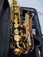 Japonya Marka YANAGISAWA A-902 Saksafon Alto Eb Siyah Nikel Altın Düğme Alto Sax Üst Enstrüman ağızlık Ile