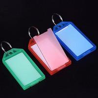 جديد 50PCS حلقة معدنية ملونة البلاستيك مفتاح السلاسل الأمتعة رقم بطاقة الاسم تسمية العلامة سلاسل المفاتيح كيرينغ مفتاح تصنيف