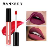 BANXEER Lipgloss Matte 8 couleurs Lip Gloss Velouté Rouge à lèvres liquide mat imperméable Lip Tint pleine riche Maquillage pour les lèvres sexy cosmétiques