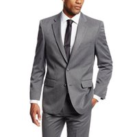 Custom Nade Simple Suits Men Gray Wedding Suits Grooms Tuxed...