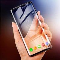 200 adet 6D tam kavisli temperli cam Samsung Galaxy S8 S9 artı Ekran Koruyucu Için Samsung A8 2018 not 8 S7 kenar