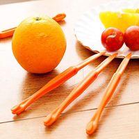 seção de 15cm de comprimento laranja ou Citrus Peeler Fruit Zesters Stripper dispositivo laranja esfola faca Citrus Opener ferramentas de frutas YYA57
