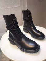 Sıcak Satış-Ann Demeulemeester tasarımcı düz topuklu iyi kaliteli ayakkabı kadınlar Lace Up ayak bileği Boot bileği Boots sneaker