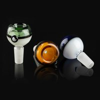 Colorful Glass Smoking Bowls 14mm 18mm Male Bowl With Handle...