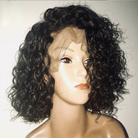 13x6 Deep Part Pre Plucked Human Hair Curly Wigs With Baby H...