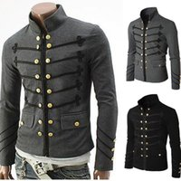 2020 Spring Jacket Men Embroidery Flower Metal Buttons Stand...