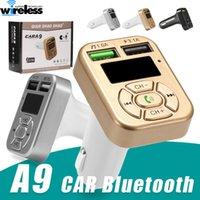 A9 자동차 키트 핸즈프리 블루투스 무선 FM 송신기 LCD MP3 플레이어 3.1A 듀얼 USB 충전기 어댑터 핸즈프리