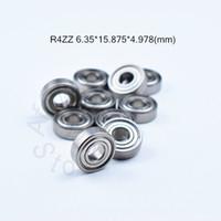 R4ZZ 6,35 * 15,875 * 4.978 (mm) 10pieces transporte livre ABEC-5 rolamentos de metal em miniatura selada rolamento Mini rolamento de aço cromado