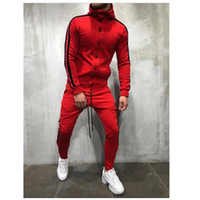 Sweat Suits Clothing Casual Spring Tracksuits Stand Collars Streetwar Tops Mens High Quality Sport Suit 2 Piece Men's Suit
