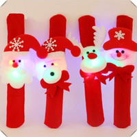 Natale Pat Circle Novità Natale Slap Bracelet Bangle XMA Decor Pat Circle Hand Ring Hottest Drop Shipping