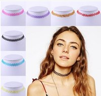 Fashion Style Style Style Sexy Donne Retrò Tattoo Choker Stretch Collana Donna Vintage Elastic Punk Collane regalo gioielli Shu9