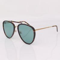 أعلى جودة النساء نظارات شمسية مصمم ليوبارد إطار تجريبي ملابس كلاسيكية أسلوب رجل العين مع عدسة خضراء مع الاطار الأصلي