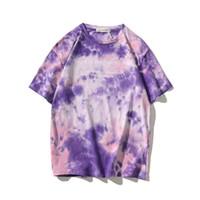 Ebaihui Hot vente Nouveau Tie-Dyed Cotton T-shirts manches courtes T-shirt Femmes Mode impression t-shirts hommes T-shirts Tops T-shirt décontracté femmes 20042