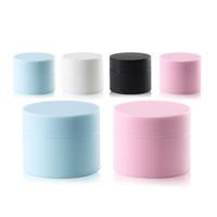 Leerer kosmetischer Flaschenbehälter 5G 15g 20g 30g Kunststoff-Creme-Glas-Make-up-Beispiel-Gläser Kosmetikverpackung schwarz