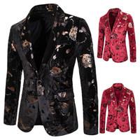 Commercio all'ingrosso progettista Slim Fit Blazer Primavera Autunno Inverno Mens floreali Blazers floreale del vestito da promenade Blazer Elegant Wedding Blazer e giacca tuta