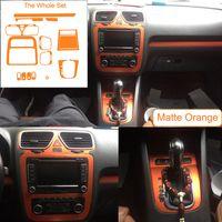 3D 4D 5D Karbon Elyaf Vinil etiketler için VW Volkswagen SCIROCCO 2009-2016 AT Araç İç Dekorasyon / Yükseltme / Koruma