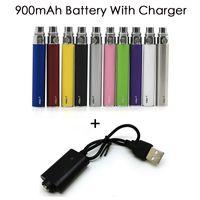 E Cigarette eGo-T Battery 900mAh Vape Pen 510 Discussione 10 colori Montare 510 atomizzatori vaporizzatore eGo T W / out Caricatori USB