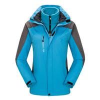 Sci Giacca donna Giacche invernali impermeabile 3 in 1 Mountain cappotto antivento pioggia incappucciati giacche con interno in pile caldo cappotto