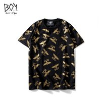 Magliette da uomo di lusso Eagle Gold Luxury girocollo manica corta Little Plane Print Top Fashion Teenager Hot Stamping Tees