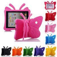 3D Cartoon Butterfly EVA cubierta de la tableta a prueba de golpes para iPad 2/3/4 5/6 / Air / 2 mini 3/4/5 Pro nuevo iPad 9.7 pulgadas caja de los niños