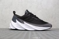 2019 New Men Sharks Concept TUBOLARE SHADOW KNIT Scarpe da corsa Jogging Triple Nero Sport Trainer Sneakers size7-11