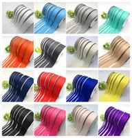 50 yardas / 6 mm-50 mm de ancho (5 yardas / porción) Grosgrain Ribbon Hair Bows Navidad Decoración de boda DIY Artesanía de costura